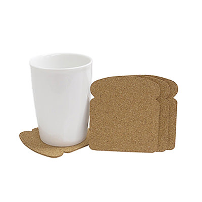 PLO1746 Toast Bread Coaster Set